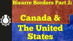 La frontera entre Estados Unidos y Canadá recorre por unos 8.891 kilómetros el paralelo 49 haciendo pequeñas líneas en zig-zag. La frontera sería una gran línea recta sin árboles (la mantienen limpia) si no fuera por los zig-zag.
