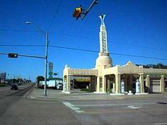 Route 66 - Shamrock, Texas - YouTube