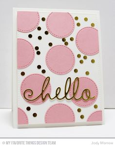 Handmade card from Jody Morrow #mftstamps
