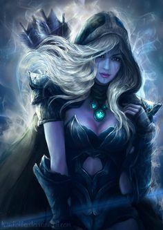 Drow Ranger ( Dota 2 ) by - Fantasy Art Village Fantasy Art Women, Fantasy Warrior, Anime Fantasy, Dark Fantasy Art, Fantasy Girl, Fantasy Artwork, 3d Artwork, Dota 2 Heroes, Ashe League Of Legends