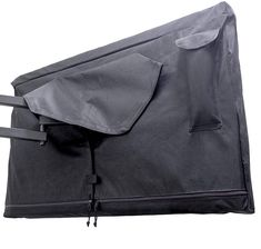 Outdoor TV Cover 52-55 inch - WITH ZIPPER, Weatherproof, Waterproof 360 degrees protection, Soft Non Scratch Interior - Black