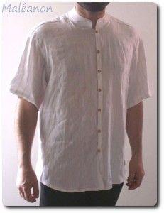 patron chemise col mao
