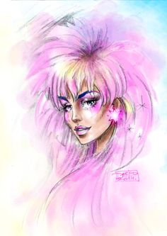 I Am Jem . the Truly Outrageous one (: by darkodordevic on DeviantArt Jem And The Holograms, Cartoon Shows, Women In History, Art Sketchbook, Retro, Character Concept, Amazing Art, Awesome, Watercolor Art
