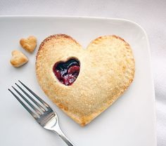 heart-shaped hand pie