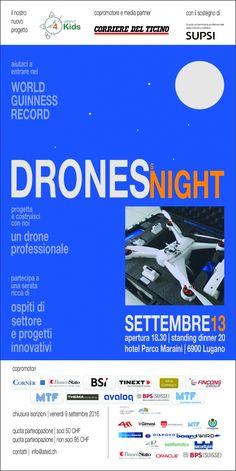 La serata dei droni - Drones's Night - Faq Drone Italy