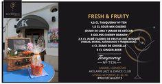 Fresh and Fruity: Receta presentada por Andreu Genestar para la competición de coctelería #WorldClass2015 con Tanqueray Ten. Podrás probarla en Akelarre Jazz & Dance Club