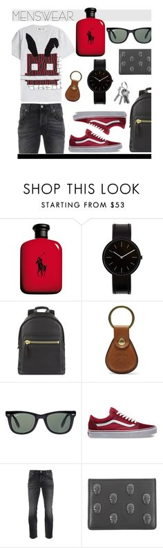 """Menswear"" by hellodollface ❤ liked on Polyvore featuring Ralph Lauren, Uniform Wares, Tom Ford, Ghurka, Ray-Ban, Vans, Nudie Jeans Co., Lucien Pellat-Finet, McQ by Alexander McQueen and mens"