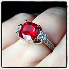 ruby engagement ring belonging to my friend !