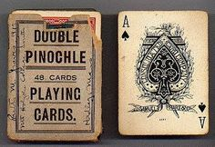Pinochle cards.  I have loved this game for 50 years!  I never get enough, much to my kids chagrin.