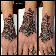 lace flower tattoos - Google Search