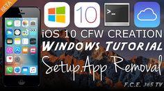 nice iOS 10 CFW Creation Tutorial On Windows   Patching Setup.App   No Keys Needed   TransMAC