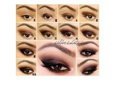 make up brown eyes tutorial Brown Smokey Eye Makeup, Sexy Smokey Eye, Smokey Eye Makeup Tutorial, Eye Tutorial, Makeup For Brown Eyes, Brown Eyeshadow, Eyeshadow Palette, Brown Eyes Tumblr, Eyebrow Makeup