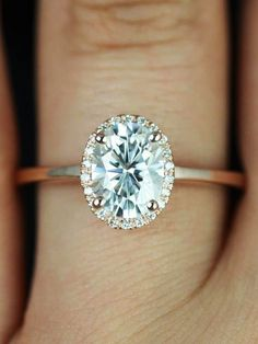 How To Make Your Engagement Ring Look Bigger // There are some nice looking rings here.