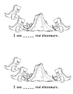 free printable dinosaurs easy reader