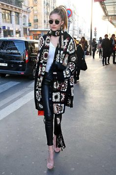 How To Channel Gigi Hadid's Crochet Look From Winter To Spring