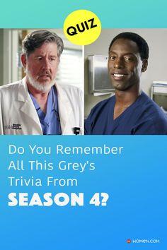 This trivia quiz will test your knowledge on how well you remember all of the Grey's Anatomy trivia from season four. #greys #shondaland #greysLove #greysrandomQuiz #greysFan #meredithgrey #shonda #GreysAnatomy #greysseason4 #greysquiz #greysnostalgia #greysAnatomyTrivia
