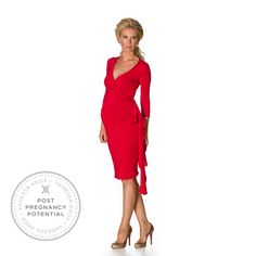 Floria Maternity Dress - Red