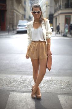 white, gold, beige and brown