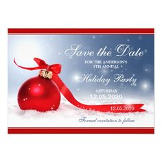 Christmas Holiday Party Save The Date Templates Pinterest - Christmas save the date template