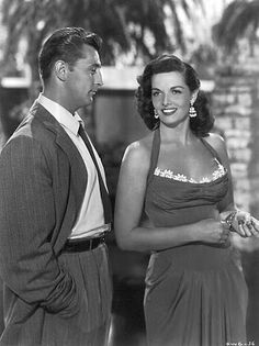 Jane Russell & Robert Mitchum were lifelong friends...Jane Russell even joined his wife in spreading his ashes after Robert Mitchum's death.