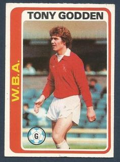 TOPPS 1979 FOOTBALLERS #156-WEST BROMWICH ALBION-TONY GODDEN