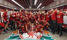 Dressing room photos: Champions celebrate Premier League glory Liverpool Premier League, Liverpool Fc, Fresh Image, One Team, Dressing Room, Champion, Celebrities, Photos, Walk In Closet