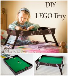Kids Craft Idea DIY Lego Tray
