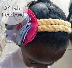 DIY Braided T-shirt Headband DIY Crafts