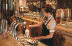 At the Soda Counter, by Trent Gudmundsen (American, b. 1978).