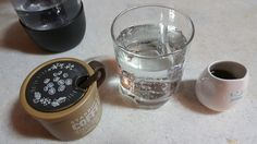 Carbonated water with cold-dripped coffee! Very refreshing!