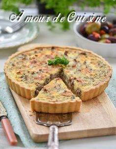tarte à la viande hachée 2 Quiche Recipes, Meatloaf Recipes, Meat Recipes, Cooking Recipes, Quiches, Mincemeat Pie, Savory Tart, Mince Meat, Savoury Dishes