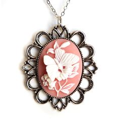 Butterfly Cameo Necklace... Even though I'm scared of butterflies...
