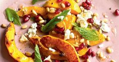 Butternut squash, pomegranate, pine nut, feta cheese and mint salad from Gizzi Erskine. This recipe is a colourful burst of texture and vibrant fresh flavours.