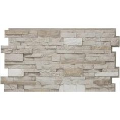 I'm thinking that, even for new construction, this could be a good option. It would be much more easily changed than using real stone for a fireplace or accent wall. Urestone Stacked Stone Desert Tan 24 in. x 48 in. Stone Veneer Panel at The Home Depot Stone Siding Panels, Faux Stone Siding, Stone Veneer Panels, Faux Brick, Stacked Stone Panels, Faux Stone Panels, Faux Panels, Stacked Stones, Home Depot
