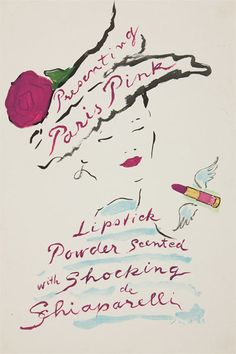 """When she introduced lipstick in 1946, it was scented like her """"Shocking"""" perfume. 