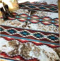 Western Bedroom Decor, Western Rooms, Rustic Western Decor, Southwest Rugs, Southwest Bedroom, Native American Rugs, American Quilt, Turner House, House Ideas