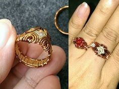 How to make easy prong ring with facet stone - Wire Wrapping Ideas 34 - YouTube