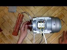 Подключение трехфазного двигателя в 220В - YouTube