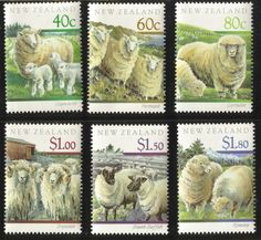 New Zealand Sheep stamps