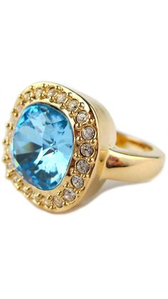 18 Kt. Gold Plated English Azure Ring.
