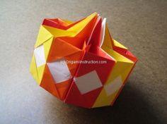 Origami Instruction Kusudama Top
