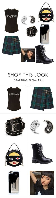 """Punk rocker chick style 2016"" by starrjames ❤ liked on Polyvore featuring Balmain, Burberry, Barbara Bui and Sydney Evan"