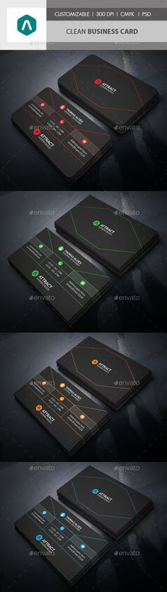 Clean #Business #Card - Corporate Business Cards