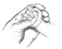 Bildresultat för mother and child holding hands heart drawing Realistic Pencil Drawings, Art Drawings Sketches Simple, Pencil Art Drawings, Cute Drawings, Hand Drawings, Sketch Drawing, Hand Kunst, Baby Sketch, Mother Art