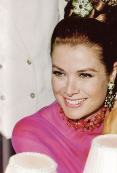 princess grace - not a common style to see her in, more mod than her hollywood days