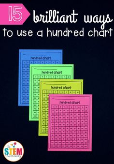 15 brilliant ways to use a hundred chart. Lots of great math games teaching the numbers 1-120.