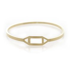 Geometric brass bangle