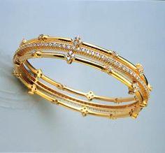 Totaram Jewelers: Buy 22 karat Gold jewelry & Diamond jewellery from India: Diamond Kadas