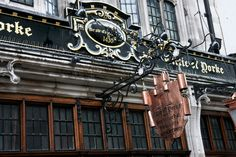 The exterior of the Cittie of Yorke pub in central London. Despite the 1430 on the sign, the current building only dates from 19th century.