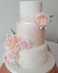 Sparkle Wedding Cakes, Blush Wedding Cakes, Summer Wedding Cakes, Fondant Wedding Cakes, Luxury Wedding Cake, Wedding Cake Roses, Buttercream Wedding Cake, Amazing Wedding Cakes, Elegant Wedding Cakes